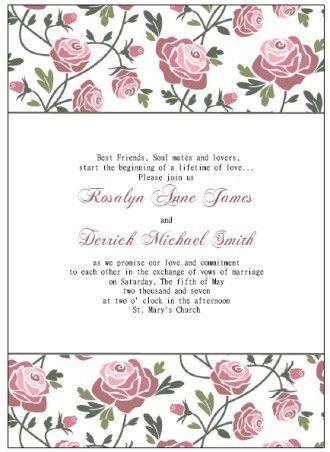 Free Printable Wedding Invitation Templates | badbrya.com