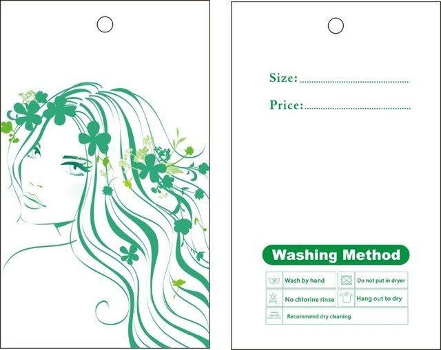 garment hang tags custom print hang tags price label lady dress ...
