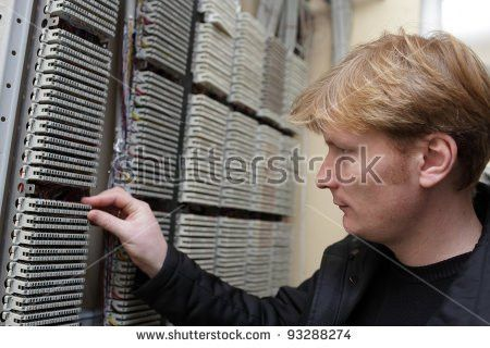 Network Engineer Working On Ddf Telecom Stock Photo 94150504 ...