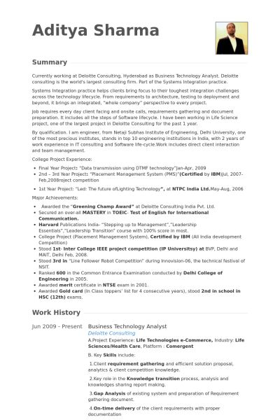 Technology Analyst Resume samples - VisualCV resume samples database