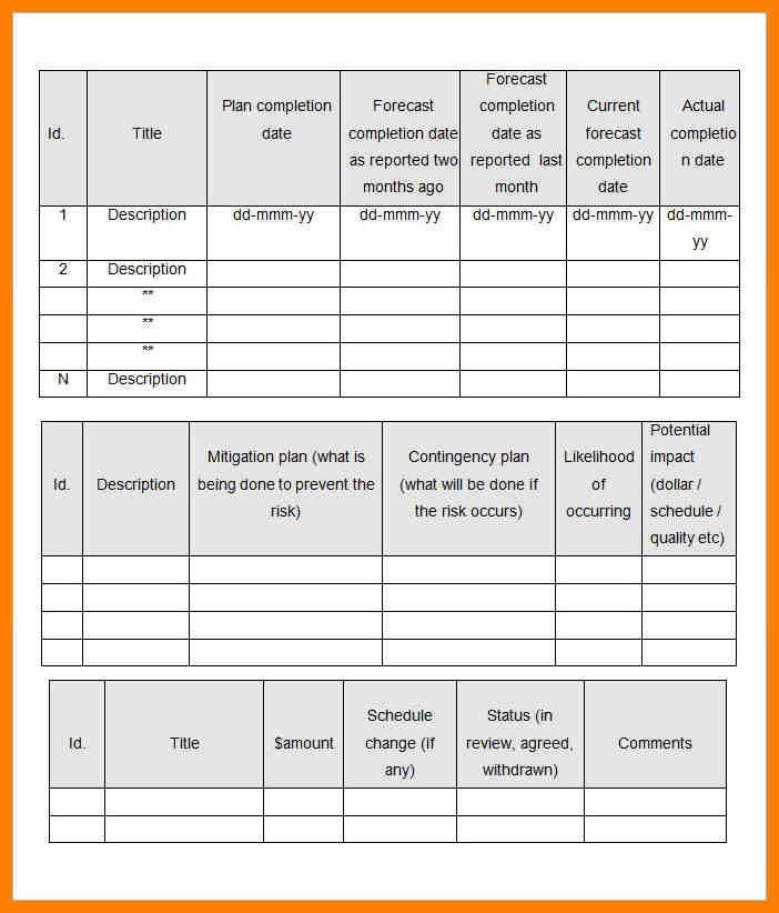 Monthly Management Report Template. Financial Account Management ...