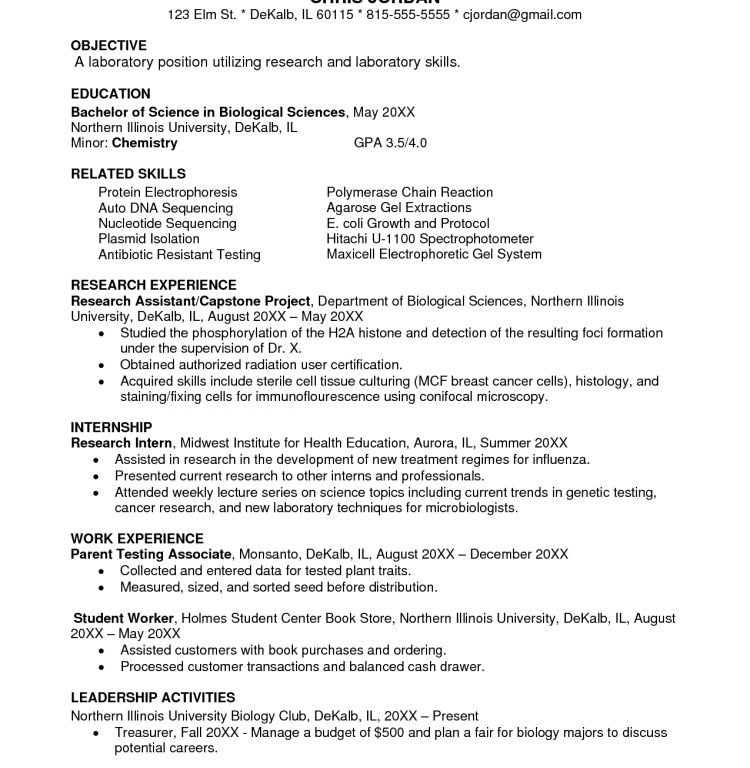 Precious Biology Resume 16 Biology Research Assistant Resume ...