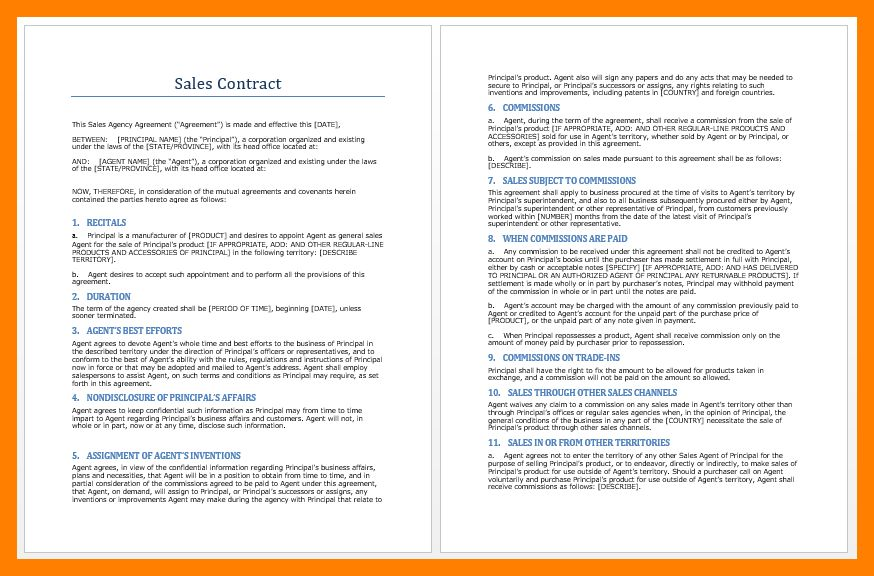 Template For Business Contract. free business contract templates ...
