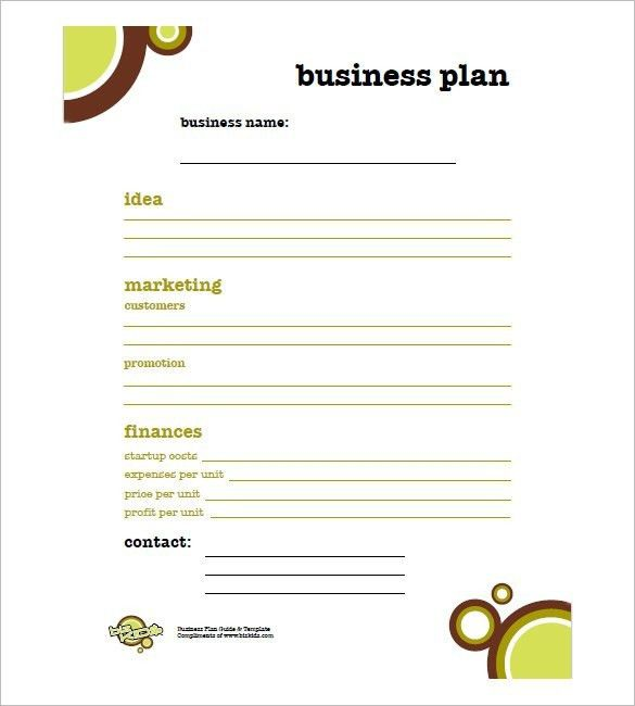 Simple Business Plan Template Free – bikeboulevardstucson.com