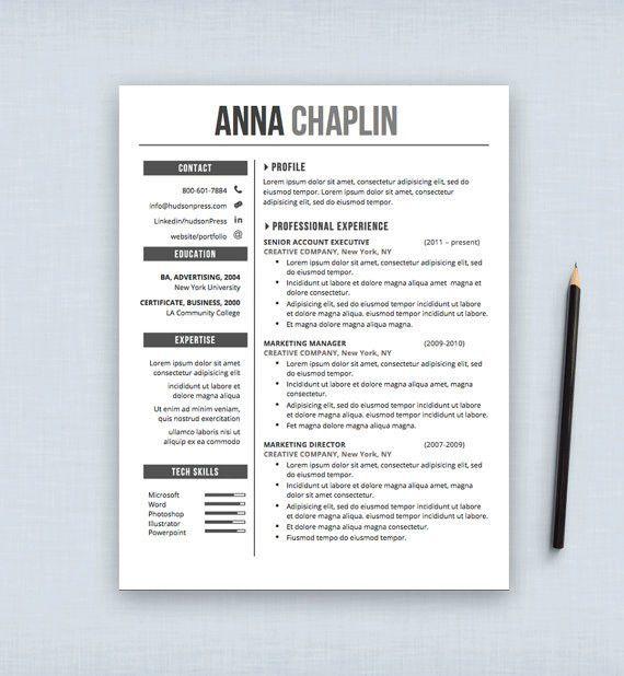 Resume Template | CV Template + Cover Letter | Letterhead ...