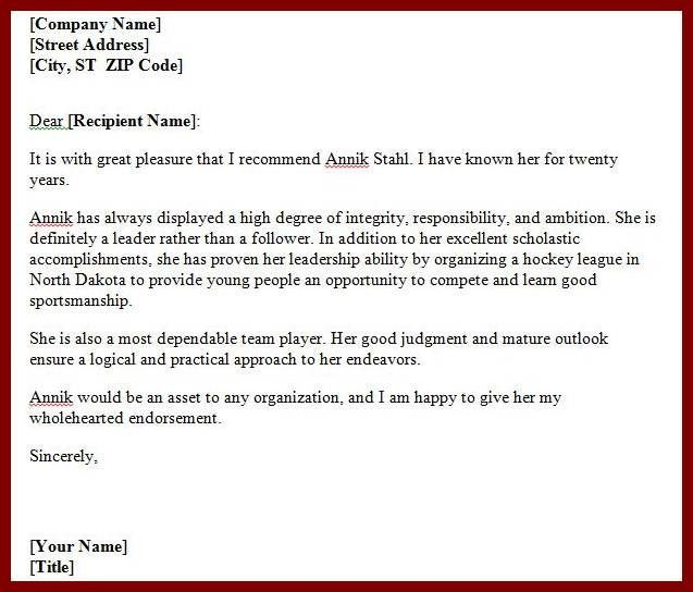 Personal Recommendation Letter Sample To Friend. Friend Personal ...
