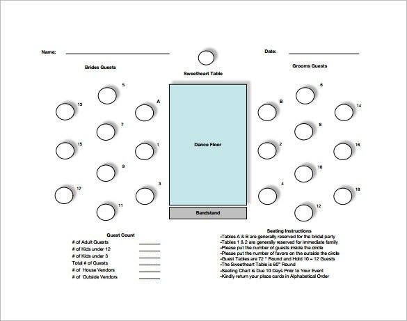 Table Seating Chart Template – 12+ Free Word, Excel, PDF Format ...