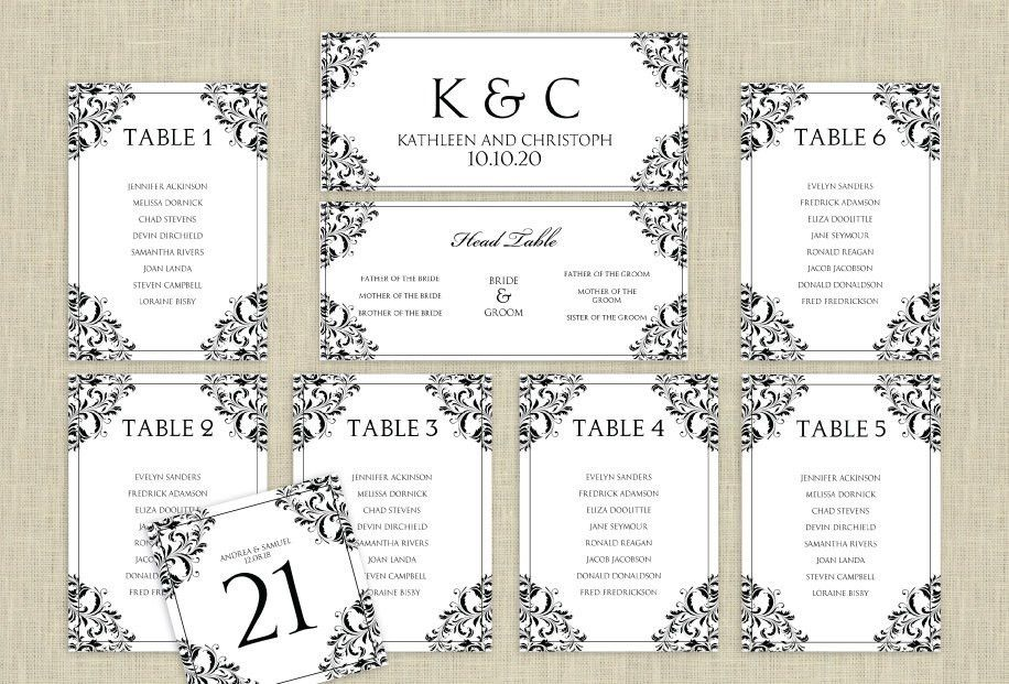 Wedding Seating Plan Template Word – Bernit Bridal
