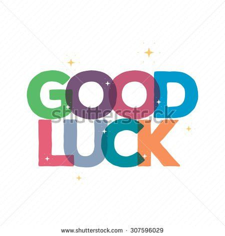 Good Luck Typography Card Designgreeting Card Stock Vector ...