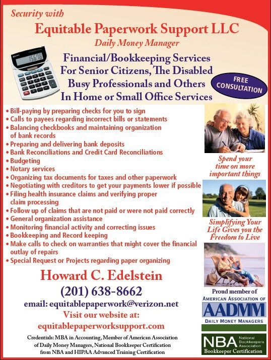 Bookkeeping and Daily Money Management Services in the New Jersey ...