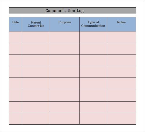 Sample Communication Log - 6+ Documents in PDF, Word