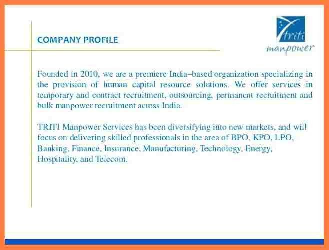 3+ recruitment agency company profile sample | Company Letterhead