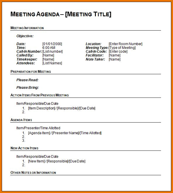Word Agenda Template.agenda Template Word.png | Scope Of Work Template