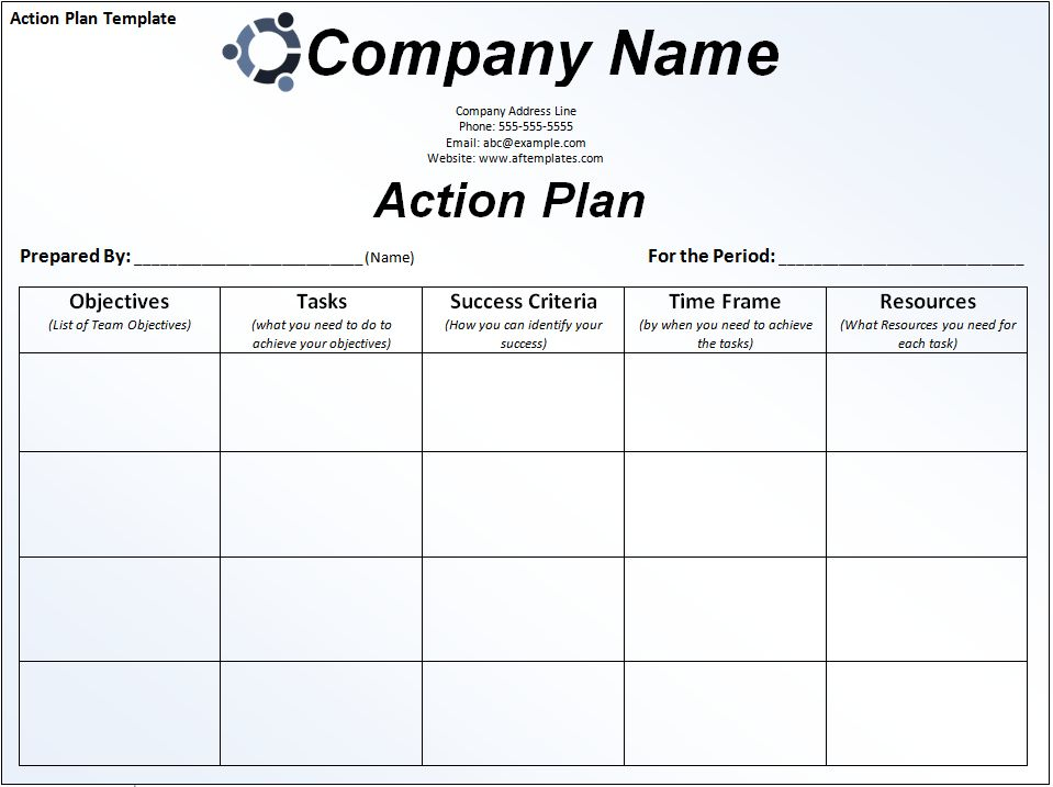 Action Plan Templates Free | rapidimg.org