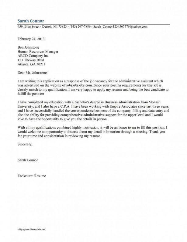 Cover Letter : Online Portfolio Platform Administrative Cover ...