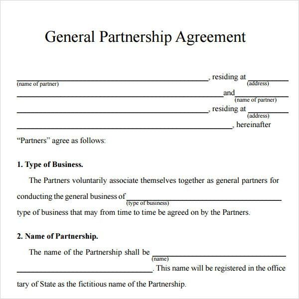 Simple Business Partnership Agreement. Dj Contract Template Pdf ...