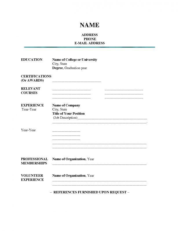 Get a Good Job : Free Printable Resume | Best Business Template In ...