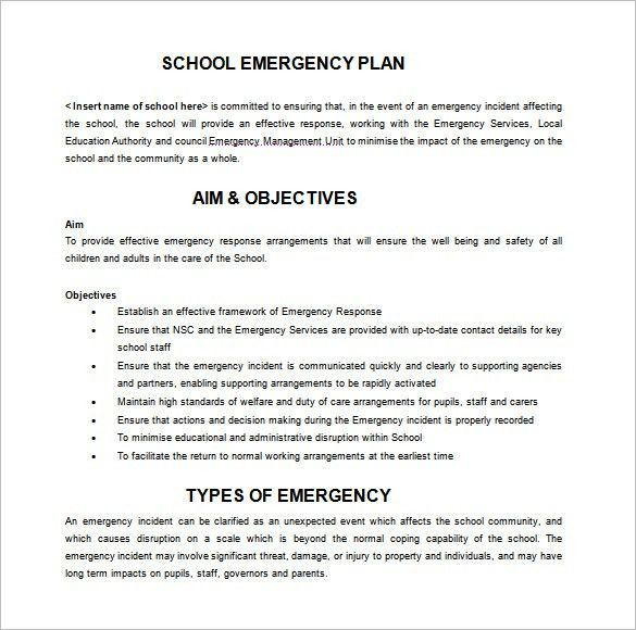 13+ Emergency Plan Templates – Free Sample, Example, Format ...