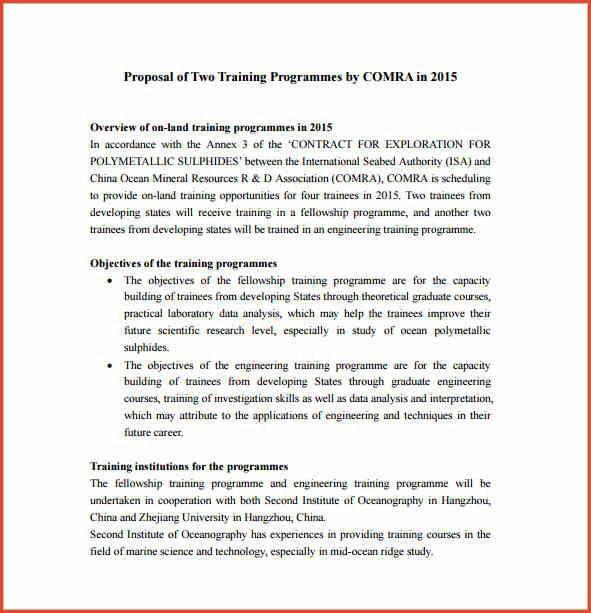 PROGRAM PROPOSAL TEMPLATE | Proposalsheet.com