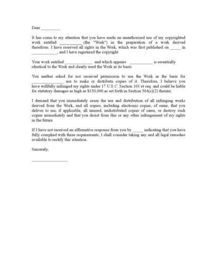 Cease and Desist Letter | LegalForms.org