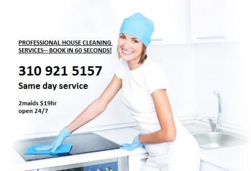 PROFESSIONAL HOUSE CLEANING SERVICES-- BOOK IN 60 SECONDS! 19hr ...