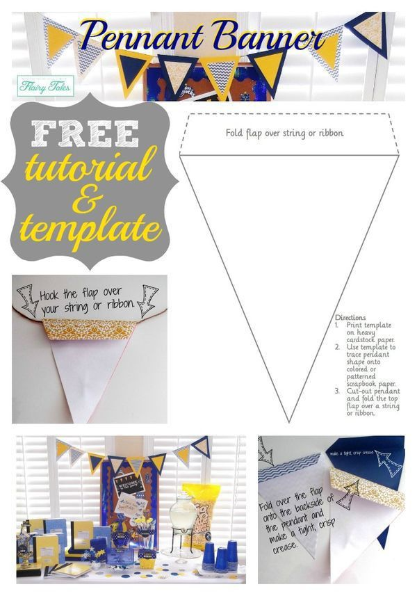 DIY pennant banner tutorial - Flairy Tales