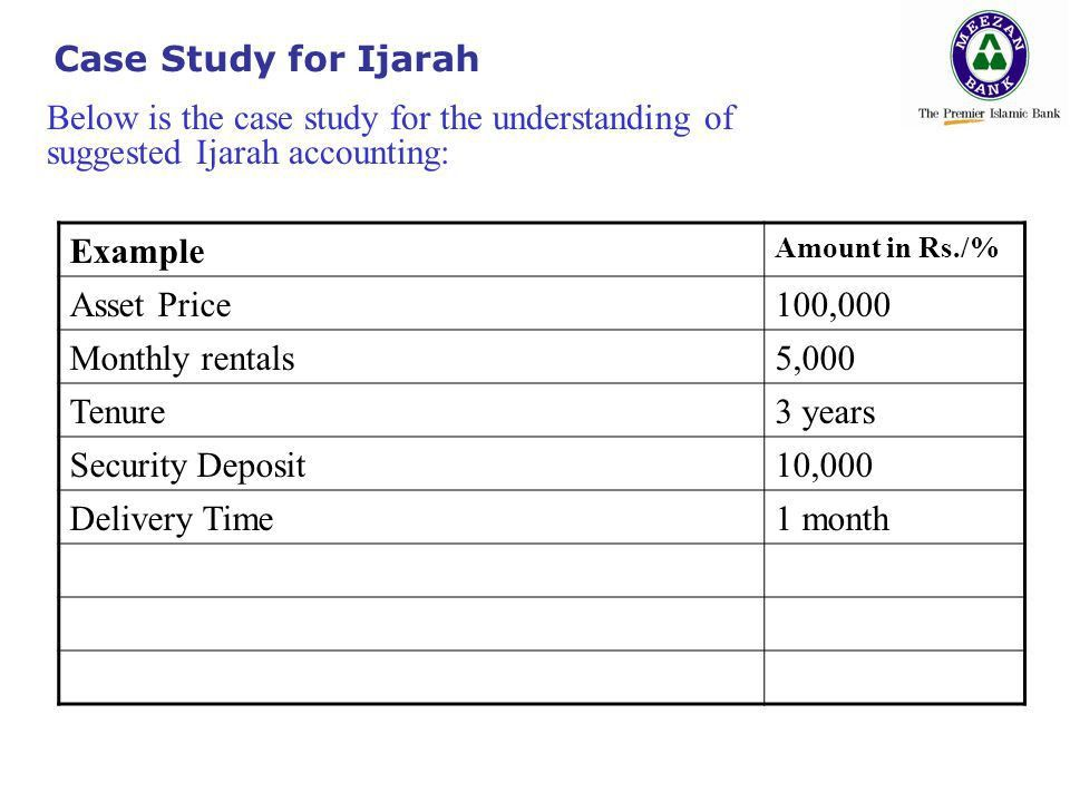 Case study example accounting