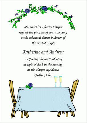 Dinner Party - Wedding Rehearsal Dinner Invitations