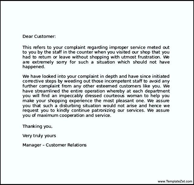 Sample Apology Letter to Customer for Error | TemplateZet