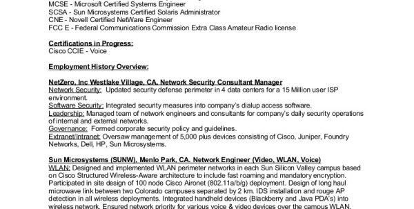 3. information security administrator. network telecommunication ...