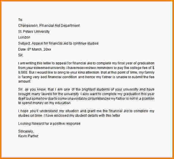 12+ financial aid appeal letter sample - LetterHead Template Sample