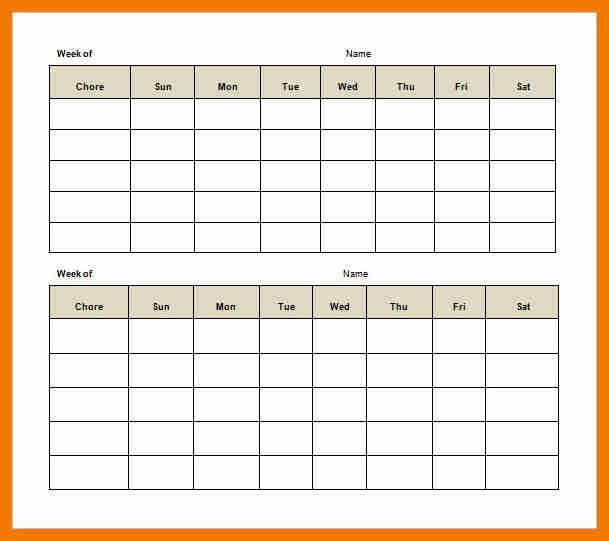 9+ daily chore chart template | resume holder
