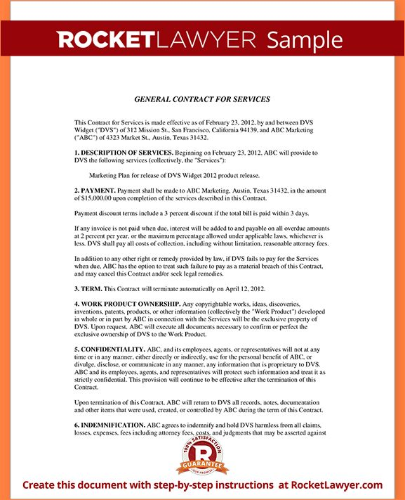 6+ sample contract for servicesReport Template Document | report ...
