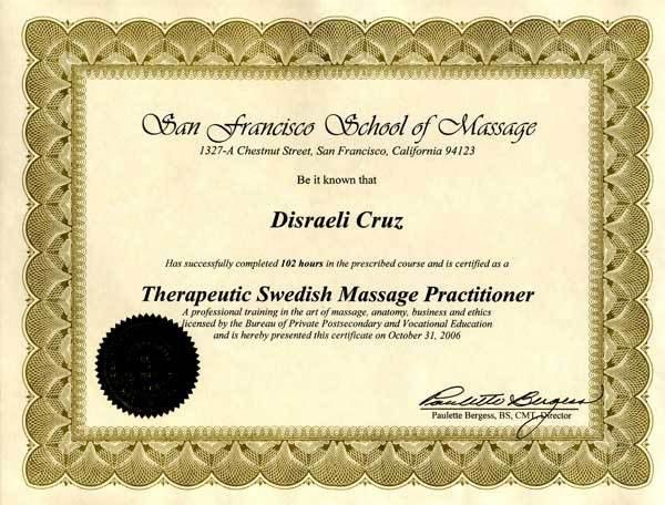 Disraeli Cruz: Power Massage