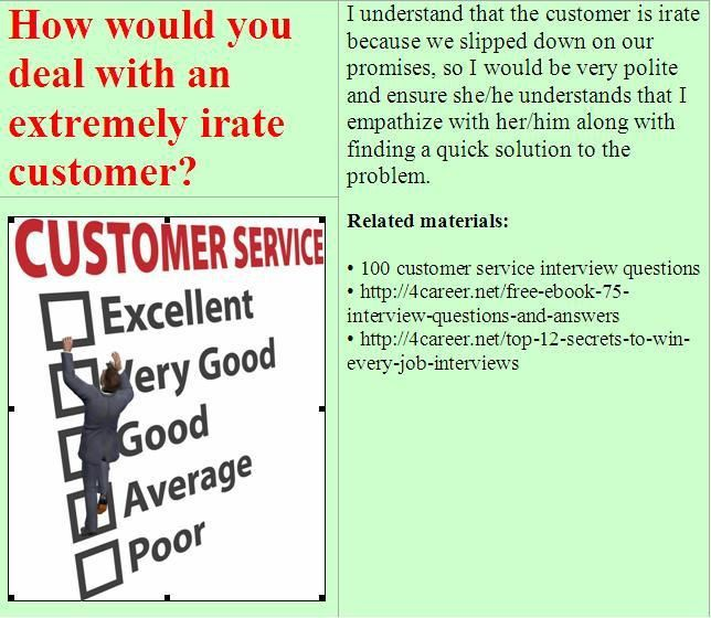 customer service interview answers