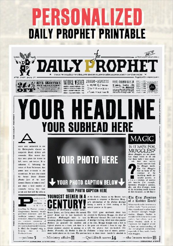 Newspaper Template - 16+ Free Word, PDF Documents Download   Free ...