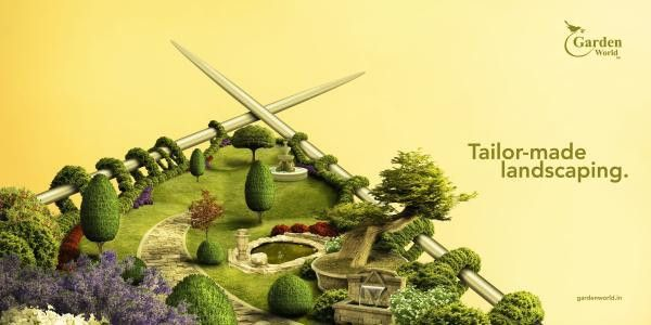 "Garden World: ""Tailor-made landscaping"" Print Ad by Watercrab ..."