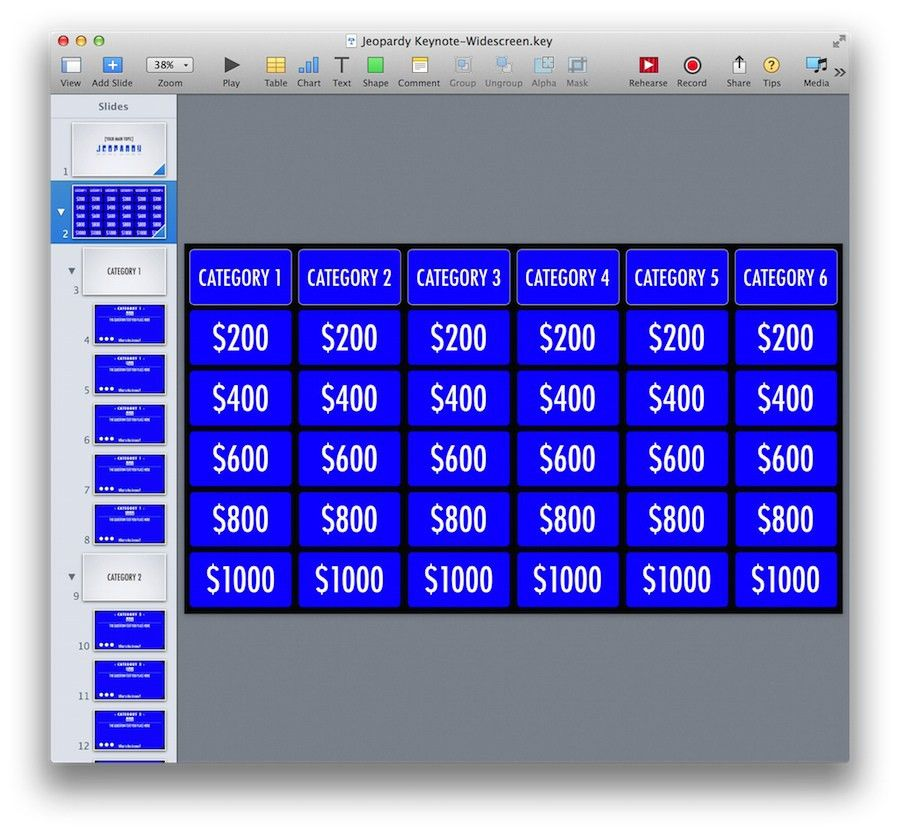 PowerPoint Jeopardy Template for iPad and Widescreen ...