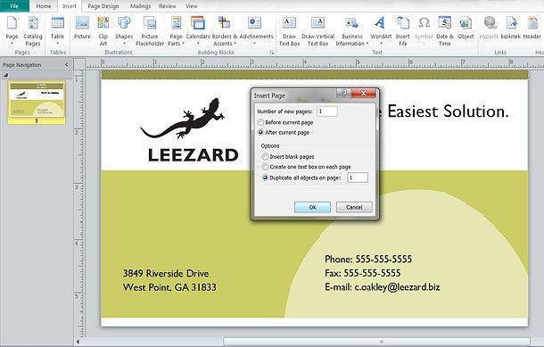 How To: Make a Double-Sided Business Card in Publisher ...