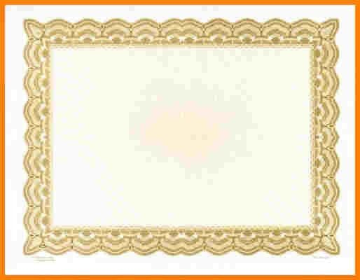 4+ gold certificate border | sample of invoice