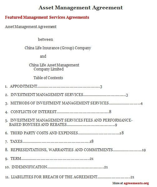 Contract Management Agreement. Top 5 Formats Of Construction ...