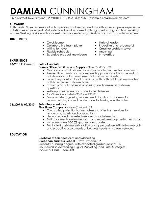 Impactful Professional Sales Resume Resume Examples & Resources ...