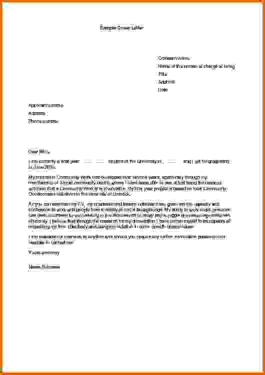 sample cover letter for internshipsReference Letters Words ...