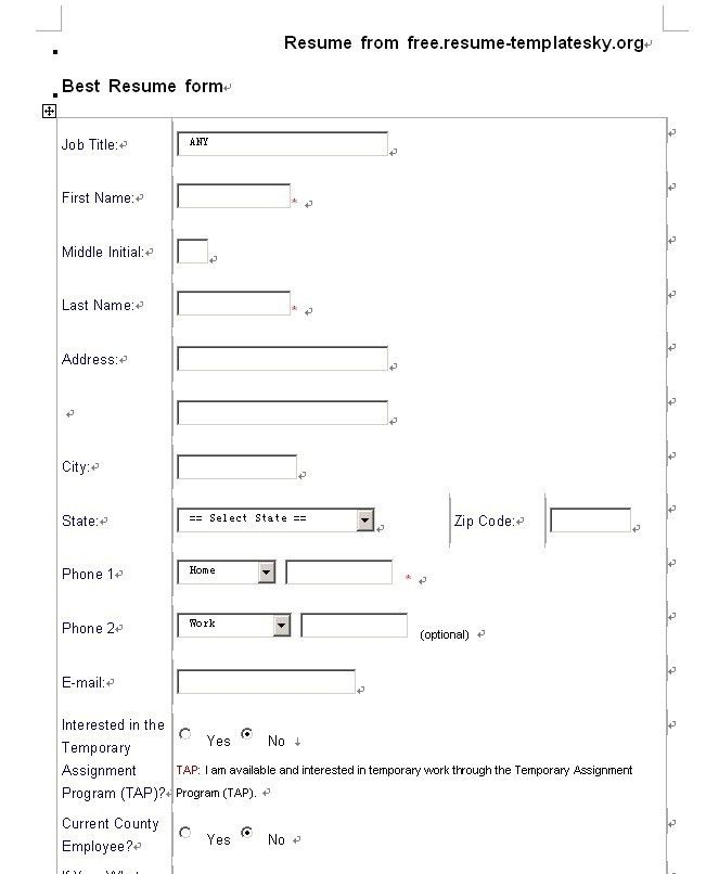 free resume templates more resume templates resume examples free ...
