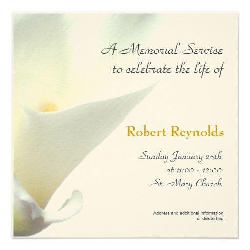 Memorial Service Announcement | Floralsympathy | Pinterest