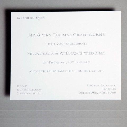 Inspiration Reception Invitations - Wedding Stationery ...