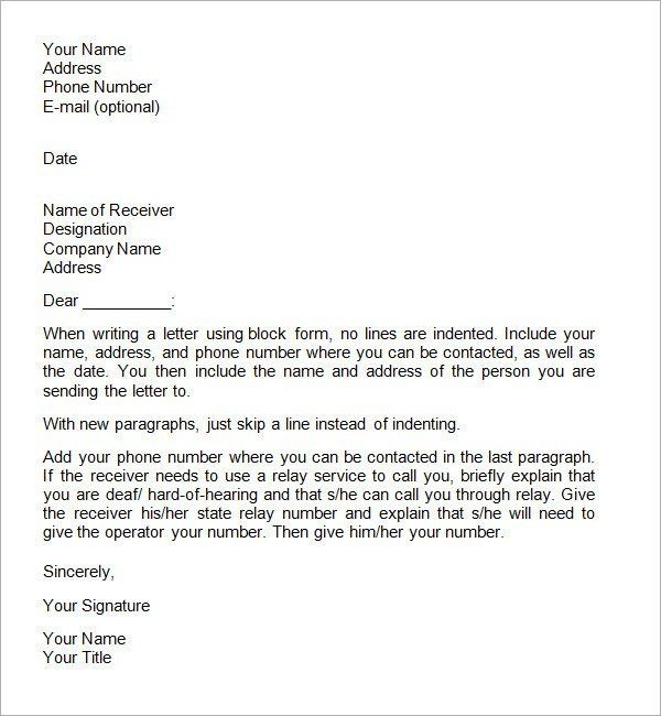 10 Best Images of Business Format Personal Formal Letter ...