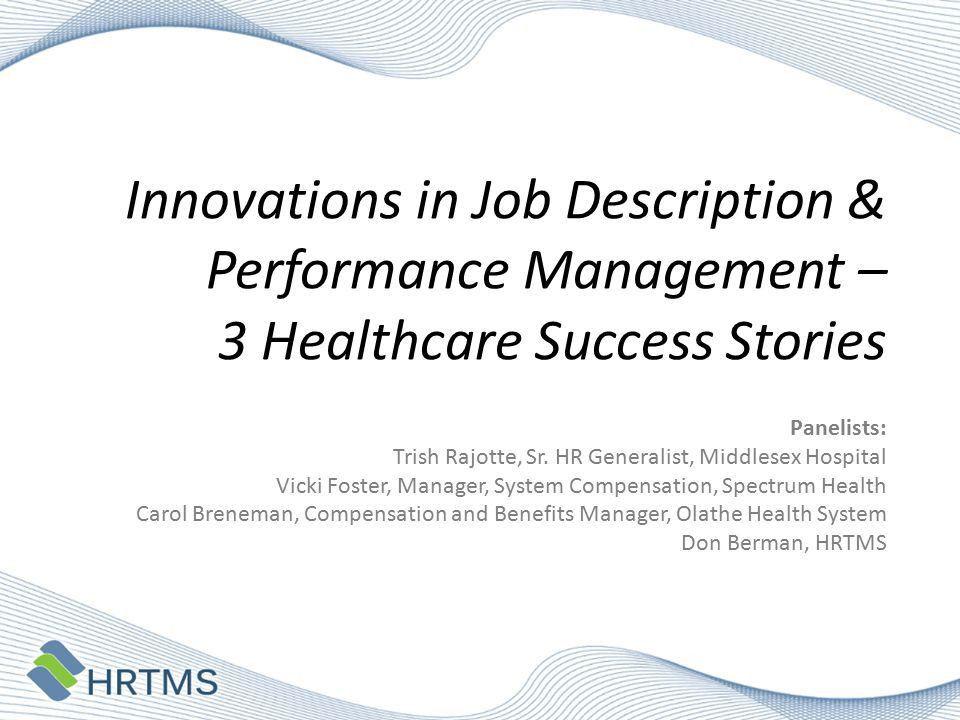 Innovations in Job Description & Performance Management – 3 ...