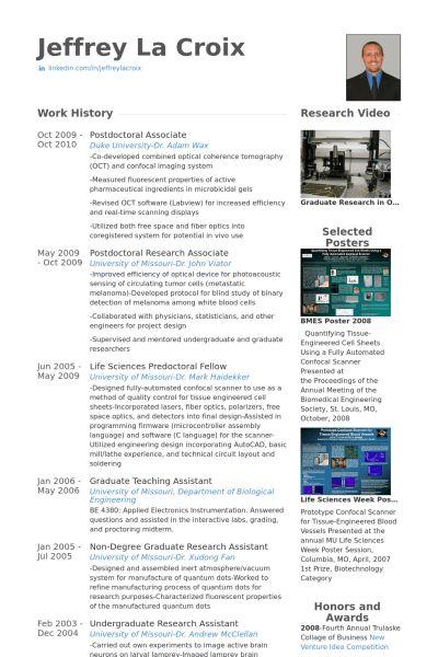 Doctor Resume samples - VisualCV resume samples database