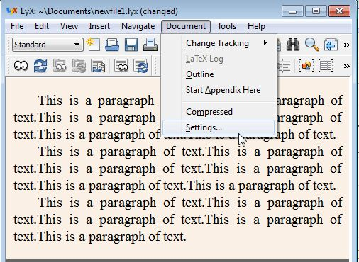 line spacing - Set all paragraphs to be double spaced in LyX - TeX ...